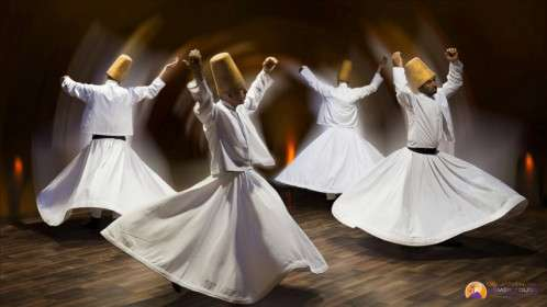 The dance of dervies in Cappadocia