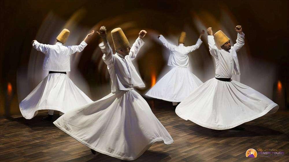 The dance of dervies in Cappadocia